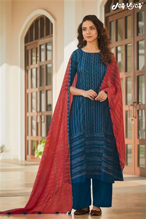 image of Glamorous Blue Colored Pashmina Fabric Printed Salwar Suit