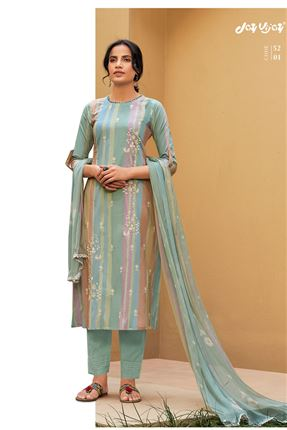 image of Appealing Multi Color Pure Cotton Fabric Digital Print Function Wear Designer Salwar Suit