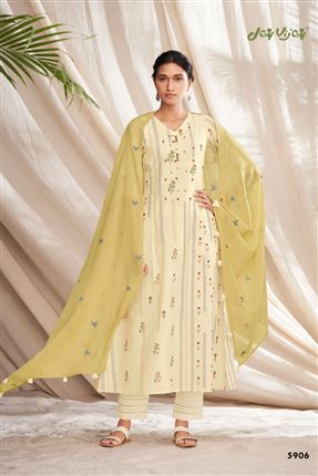image of Attractive Beige Colored Pure Cotton Fabric Party Wear Printed Designer Salwar Kameez