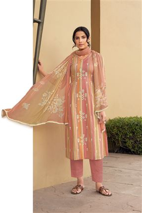 image of Fetching Multi Color Pure Cotton Fabric Digital Print Function Wear Designer Salwar Suit