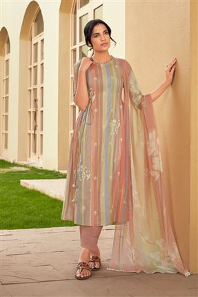 image of Lovely Multi Color Pure Cotton Fabric Digital Print Function Wear Designer Salwar Suit