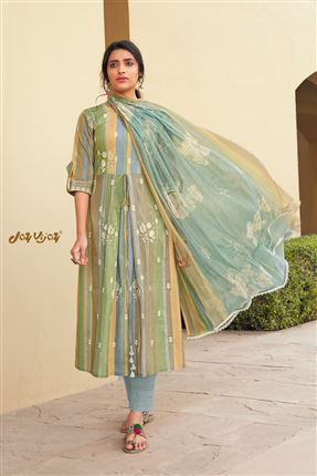 image of Stunning Multi Color Pure Cotton Fabric Digital Print Function Wear Designer Salwar Suit